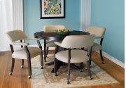 Castored Dining Set Rich Mocha w/ Light Gray Vinyl Product Image