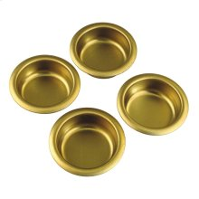 1 In. Builders Hardware Polished Brass Finger Cabinet Pull (4-Pack)
