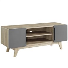 "Tread 47"" TV Stand in Natural Gray Product Image"