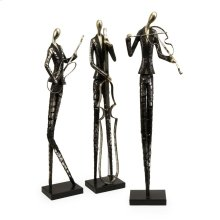 Jazz Club Musician Statuaries - Set of 3