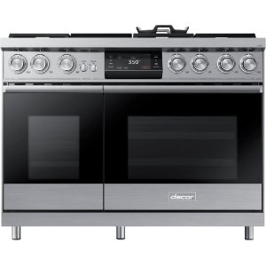"Dacor48"" Pro Dual-Fuel Steam Range, Silver Stainless Steel, Liquid Propane/High Altitude"