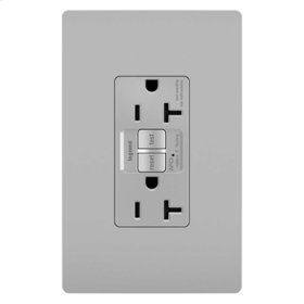 Tamper-Resistant 20A Outlet Branch Circuit AFCI Receptacle, Gray