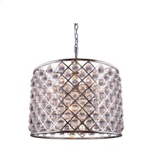 """1204 Madison Collection Chandelier D:27.5"""" H:21"""" Lt:8 Polished nickel Finish (Royal Cut Crystals)"""