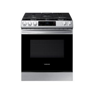 Samsung Appliances6.0 cu. ft. Front Control Slide-in Gas Range with Wi-Fi in Stainless Steel