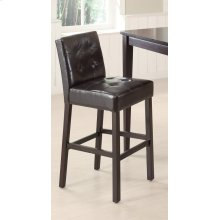 Contemporary Cappuccino Bar-height Stool