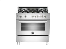 36 5-Burner, Gas Oven Stainless