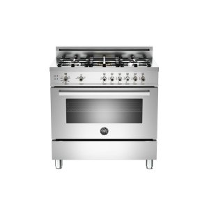 36 5-Burner, Gas Oven Stainless -