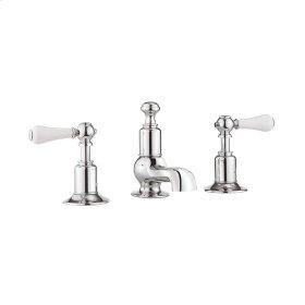 Belgravia White Lever Low Spout Widespread Lavatory Faucet