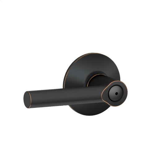 Broadway Lever Bed & Bath Lock - Aged Bronze