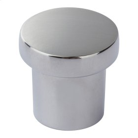 Chunky Round Knob Small 1 Inch - Polished Chrome