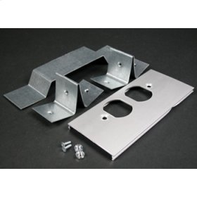 AL3300 Offset Duplex Receptacle Cover Plate (For Divided Raceway)