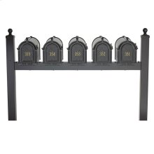 Multi Mailbox Quint Package - Black