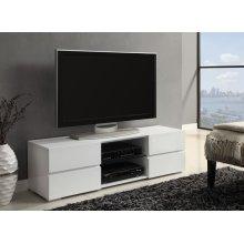 Contemporary Glossy White TV Console