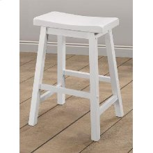 Casual White Bar Stool