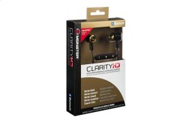 ClarityHD High-Performance Wireless Earbuds - Black and Gold