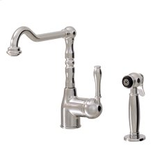 Dual stream mode kitchen faucet with side spray