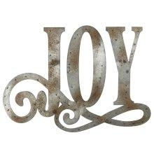 "Galvanized ""Joy"" Wall Decor."