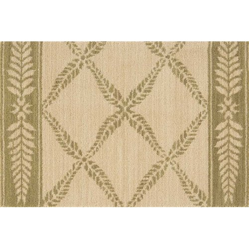 Chateau No21 Ivory Green Runner