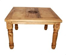 """48"""" Square Table W/star On Top & Leg"""