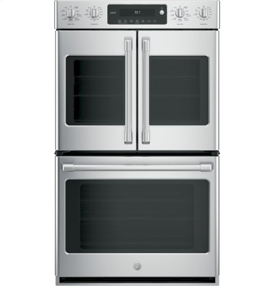 "GE Cafe™ Series 30"" Built-In Double Convection Wall Oven Product Image"