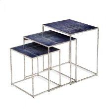 Maci Rectangular Nesting Tables - Cobalt