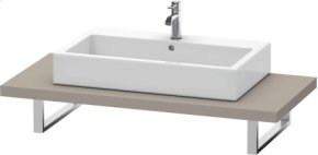 Console For Above-counter Basin And Vanity Basin, Basalt Matt (decor)