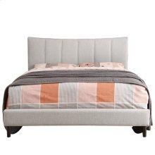"""Rimo 60"""" Queen Platform Bed in Beige"""