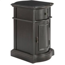 Reamus 1-door 1-drawer Cabinet In Dark Brown