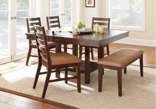 "Eden Dining Table w/ 18"" LZ, Dk Cherry, 52""x36""x52"" w/ 16"" Leaf"