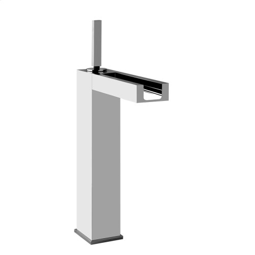 """Tall single lever washbasin mixer with pop-up assembly Spout projection 6-3/16"""" Height 12-7/16"""" Includes drain Max flow rate 1"""