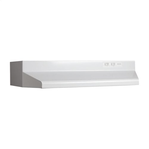 "30"" 190 CFM White, Under-Cabinet Hood (with damper)"