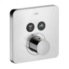 Chrome ShowerSelect SoftCube Thermostatic 2-Function Trim