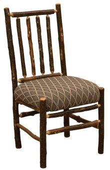 Spoke-back Side Chair Standard Fabric, Natural Hickory