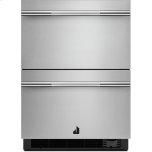 "Noir 24"" Double Drawer Refrigerator/freezer, Noir"