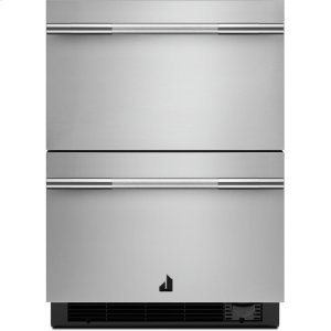 "Jenn-AirNOIR 24"" Double Drawer Refrigerator/Freezer, NOIR"