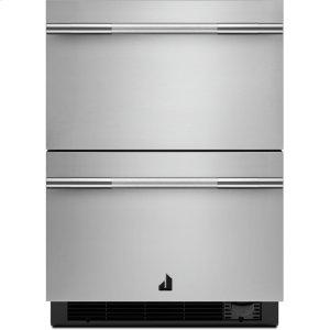 "Jenn-AirNOIR 24"" Double Drawer Refrigerator/Freezer, NOIR"