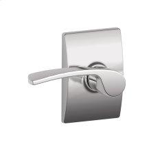 Merano lever with Century trim Hall & Closet lock - Bright Chrome