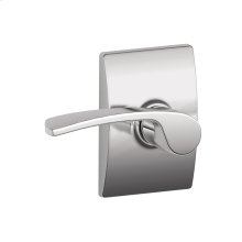 Merano lever with Century trim Hall & Closet lock - Bright Chrome