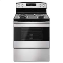 30-inch Electric Range with Bake Assist Temps - stainless steel