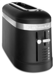 2 Slice Long Slot Toaster with High-Lift Lever - Black Matte Product Image