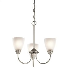Jolie Collection Jolie 3 Light Mini Chandelier - Brushed Nickel NI
