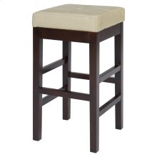 Valencia Backless Leather Counter Stool, Beige