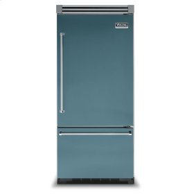 "Iridescent Blue 36"" Bottom-Mount Refrigerator/Freezer - VIBB (Right Door Hinge)"