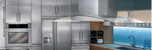 36'' Glass and Stainless Canopy Island-Mount Hood