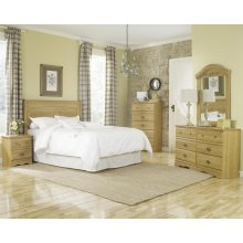 HB28 Sleigh Storage Bed - 2 Drawer - King