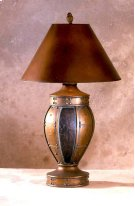 Copper & Burgundy Tulip Lamp Product Image