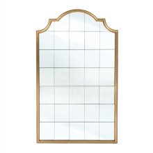 Antique Gold Gilded Mirror with Multi Paned Mirror Panels
