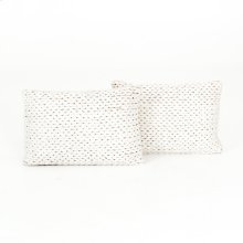 "16x24"" Size Cream Braided Pillow, Set of 2"
