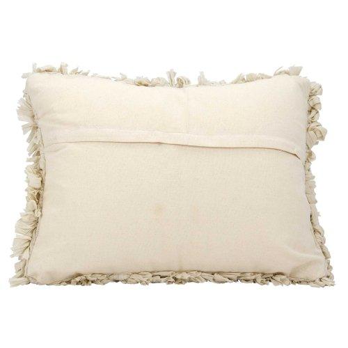 """Shag Dl658 Beige 14"""" X 20"""" Throw Pillow"""