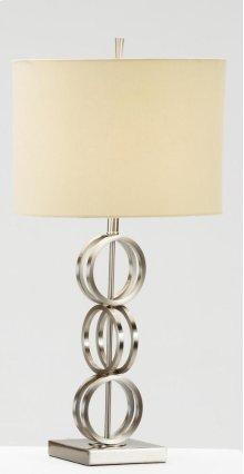 3 Ring Satin Nickel Table Lamp